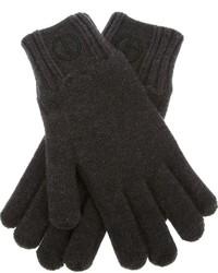 Guantes de lana en gris oscuro de Giorgio Armani