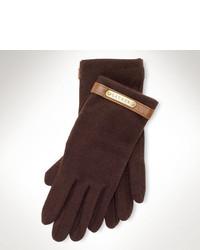 Guantes de lana en marrón oscuro