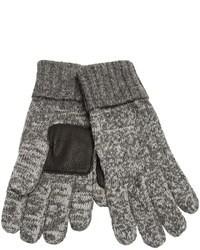 Guantes de lana grises