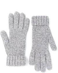 Guantes de lana grises de DSquared