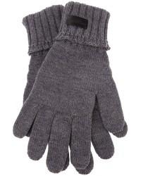 Guantes de lana grises de Saint Laurent