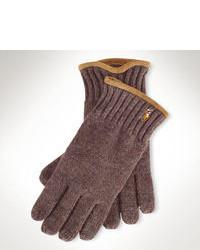 Guantes de lana marrónes