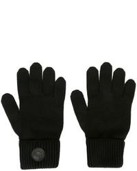 Guantes de lana negros de DSQUARED2