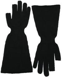 Guantes de lana negros de Rick Owens