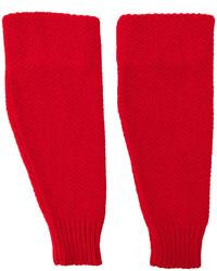 Guantes de lana rojos