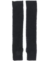 Guantes largos de lana en gris oscuro de MM6 MAISON MARGIELA