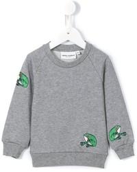Jersey bordado gris de Mini Rodini