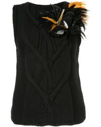 Jersey con adornos negro de Lanvin