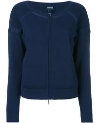 Jersey con cremallera azul marino de Armani Jeans