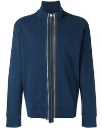 Jersey con cremallera azul marino de Maison Margiela