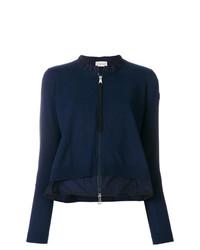 Jersey con cremallera azul marino de Moncler