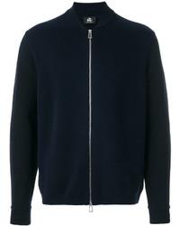Jersey con cremallera azul marino de Paul Smith