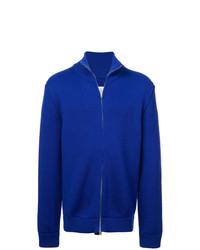 Jersey con cremallera azul de Maison Margiela