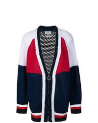 Jersey con cremallera en blanco y rojo y azul marino de Tommy Hilfiger