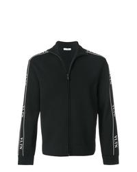 Jersey con cremallera en negro y blanco de Valentino