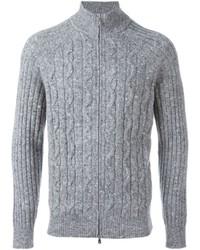 Jersey con cremallera gris de Brunello Cucinelli