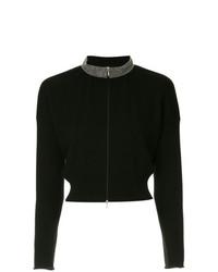 Jersey con cremallera negro de Fabiana Filippi