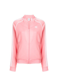 Jersey con cremallera rosado de adidas