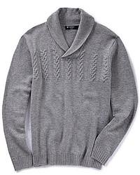 Jersey con cuello chal gris