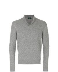 Jersey con cuello chal gris de Zanone
