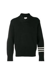 Jersey con cuello chal negro de Maison Margiela