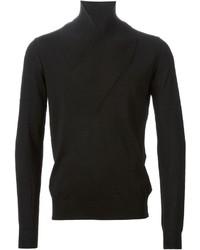 Jersey con cuello chal negro de Paolo Pecora