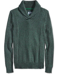 Jersey con cuello chal verde oscuro