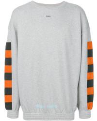 Jersey con cuello circular a cuadros gris de Off-White