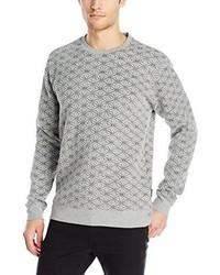 Jersey con cuello circular acolchado gris de Threads 4 Thought