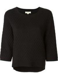 Jersey con cuello circular acolchado negro de MICHAEL Michael Kors