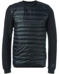 Jersey con cuello circular acolchado negro de Nike