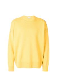 Jersey con cuello circular amarillo de AMI Alexandre Mattiussi