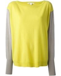 Jersey con cuello circular amarillo de Diane von Furstenberg