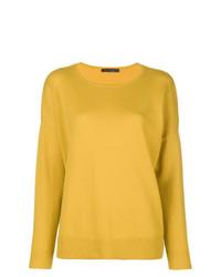 Jersey con cuello circular amarillo de Incentive! Cashmere