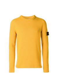 Jersey con cuello circular amarillo de Stone Island