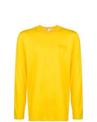 Jersey con cuello circular amarillo de Y-3