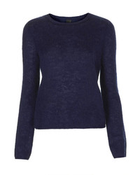 Jersey con cuello circular azul marino original 1326849