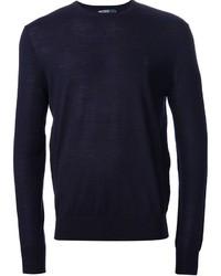 Jersey con cuello circular azul marino original 400860
