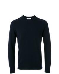 Jersey con cuello circular azul marino de AMI Alexandre Mattiussi