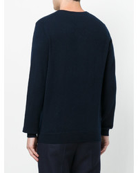 Jersey con cuello circular azul marino de Laneus