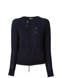 Jersey con cuello circular azul marino de Dsquared2
