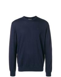 Jersey con cuello circular azul marino de Emporio Armani