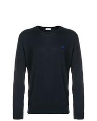 Jersey con cuello circular azul marino de Etro