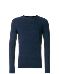 Jersey con cuello circular azul marino de Giorgio Armani