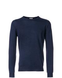 Jersey con cuello circular azul marino de Lanvin