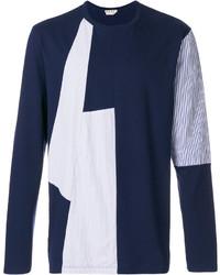 Jersey con cuello circular azul marino de Marni