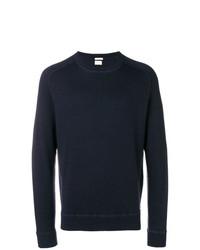 Jersey con cuello circular azul marino de Massimo Alba