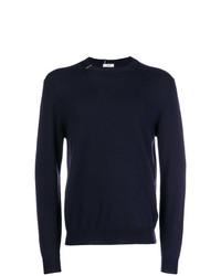 Jersey con cuello circular azul marino de Mauro Grifoni