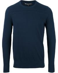 Jersey con cuello circular azul marino de Michael Kors