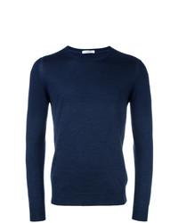 Jersey con cuello circular azul marino de Paolo Pecora